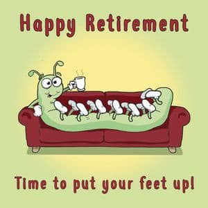 OCC11  Centipede Funny Retirement Card